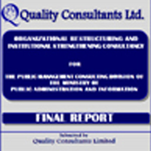 PUBLIC SERVICE MANAGEMENT CONSULTING DIVISION, MINISTRY OF PUBLIC ADMINISTRATION