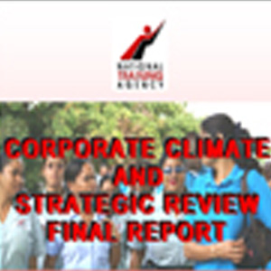 CORPORATE CLIMATE AND STRATEGIC REVIEW FOR THE NATIONAL TRAINING AGANCY.